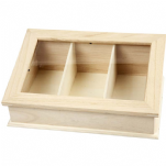 Glass Top Wood Boxes